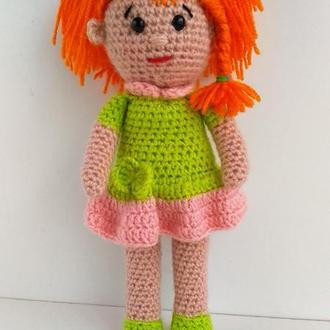 Кукла,маленькая куколка,рыжеволосая кукла.