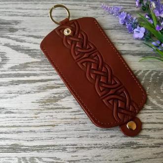 Ключница темно-коричневый кельтский узел
