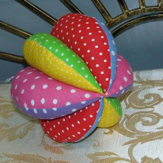 Развивающий мячик из ткани - мягкая игрушка для ребенка, 17 см