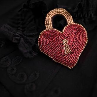 Брошь Сердце-замок