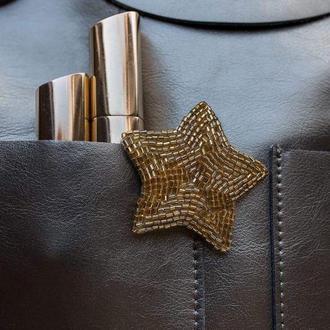 Брошь Звезда золото