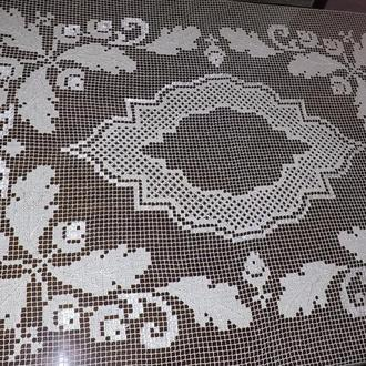 Скатерть филейное кружево, винтаж, 110х140