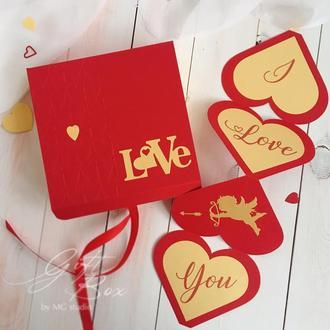 """GiftBox """"Cupid"""" - открытка в коробочке"""