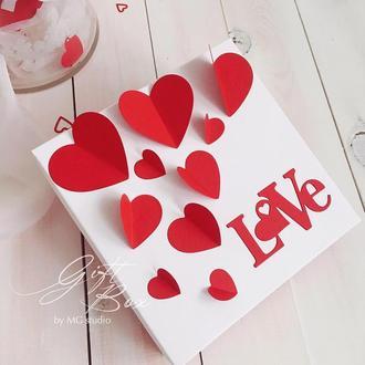 "GiftBox ""Valentine's day"" - открытка в коробочке"