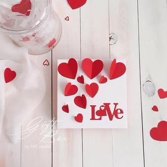 "GiftBox ""Valentine 5"" - открытка в коробочке"