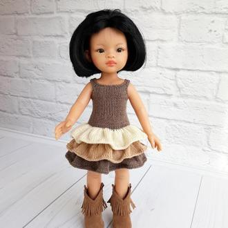 Одежда на кукол Паола Рейна, сарафан с оборками