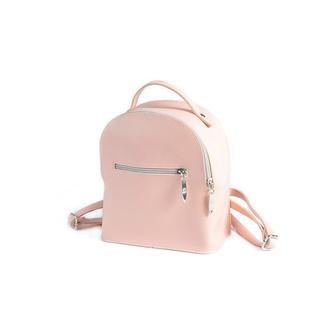 Женский маленький рюкзак Пудровый