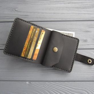 Кожаный кошелёк  LANA_черный_470