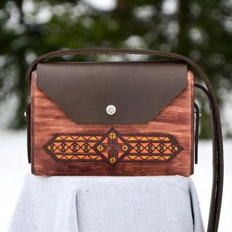 """Жіноча дерев'яна сумочка """"Kate"""""""