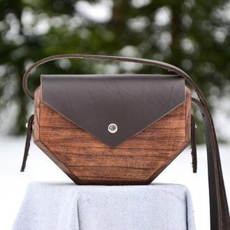 """Жіноча дерев'яна сумочка """"Chocolate 2"""""""