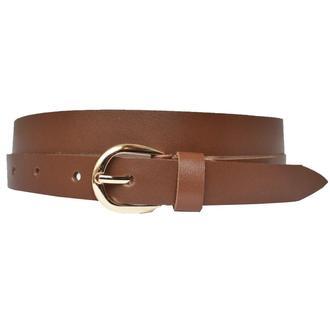 Premium20R1 женский кожаный коричневый узкий ремень пояс натуральная кожа кожанный