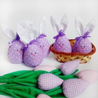 текстильные зайцы,пасхальный декор