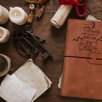 Блокнот из кожи, Гарри Поттер, Мужской блокнот, Записная книжка, Скетчбук, Блокнот с гравировкой