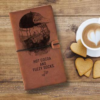 Блокнот из кожи, Фантастические твари, Ниффлер, Записная книжка, Скетчбук, Блокнот с гравировкой