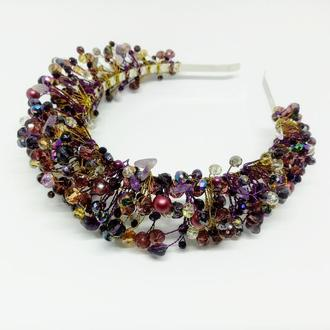 Фиолетовый обруч диадема корона