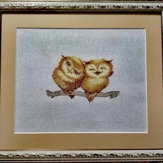 "Вишита картина ""Милі совушки"""