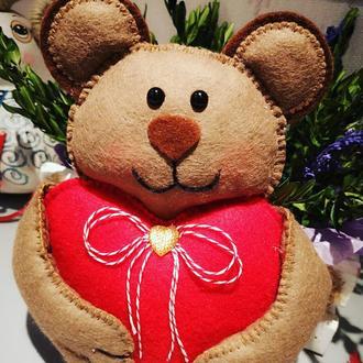 Мишка с валентинкой ❤️🤗