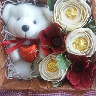 Мягкая игрушка и  конфеты . Набор №2 . Подарок  с конфетами