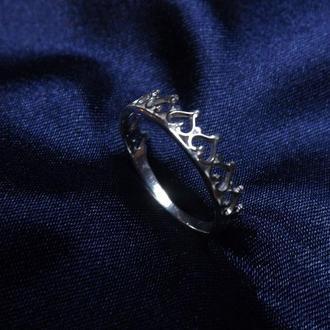 """Кольцо """"Коронка"""", серебро, подарок девушке, любимой"""