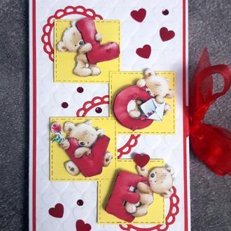Сладкая открытка-валентинка