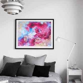 Постер в интерьер принт абстракция флюид-арт