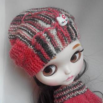 """Шапка """"Kitty"""" для ляльки Блайз, Айсі"""