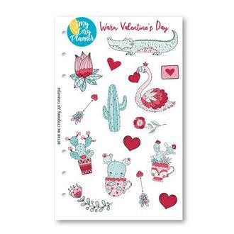 НАЛІПКИ «Теплий День Святого Валентина», наклейки, стикеры