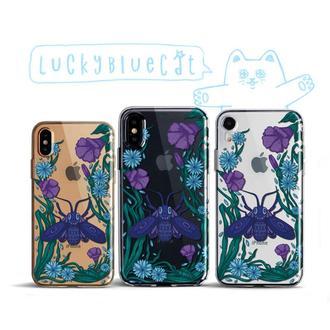 Милый Силиконовый Чехол для телефона Цветы Готическая Моль Iphone Samsung Айфон Самсунг Подарок