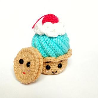 Набор полезных сладостей мягкие игрушки, вязаные развивашки детям