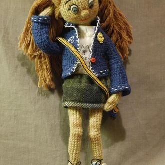 Вязаная кукла-амигуруми Энни