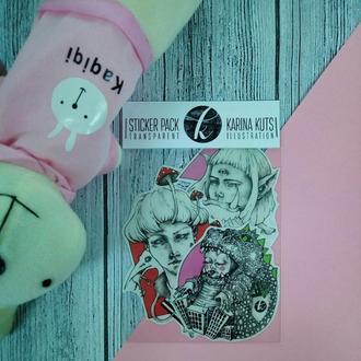 Наклейки. Стикерпак. Розовый