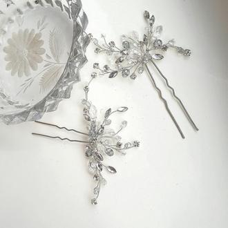 Свадебные шпильки для волос, украшения в прическу, украшения для свадебной прически,шпилька