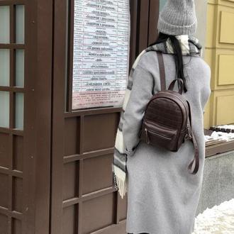 Рюкзак. Рюкзак из натуральной кожи. Женский кожаный рюкзак
