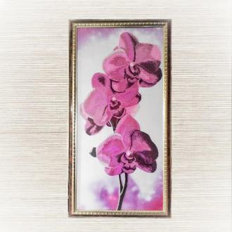 "Картина. Вышивка бисером. ""Орхидеи"""