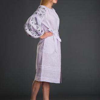 "Вишита льняна сукня ""Букети"""