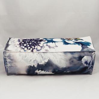 Подушка диванная гипоаллергенная. Подушка-валик. Прямоугольная подушка. Подушка с цветами.