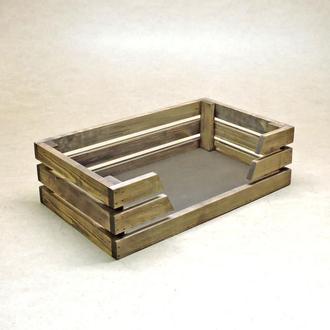 Лежак деревянный для собаки Лессер 50х30 капучино