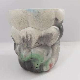 Стакан для коктейлей из бетона, сделанный вручную - мультицвет