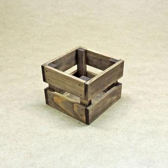 Короб для хранения Милена 125х125мм капучино