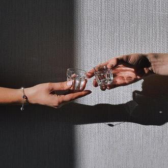 Набор Пьяных Граненых Рюмок