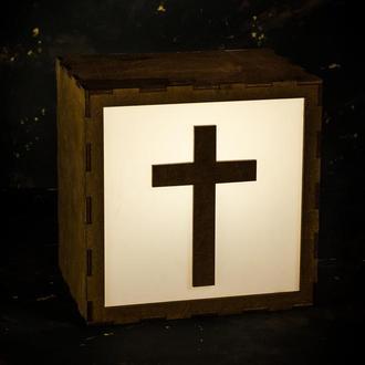 Светильник, LightBox , ночник с крестом