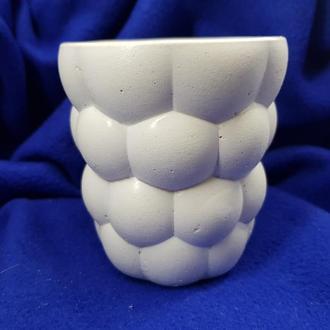 Бокал для коктейлей из бетона, белый