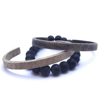 Деревянные мужские браслеты.