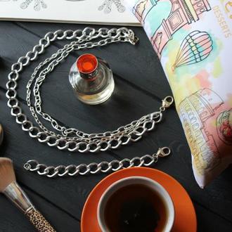 Колье и браслет в стиле Rockprincess.