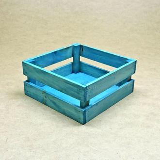 Короб для хранения Милена 220х220мм лазурь