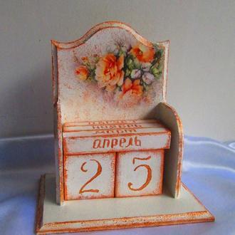Вечный календарь ′Розы′- отличный подарок,девушке,маме,бабушке,учителю