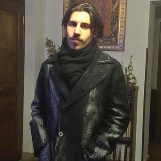 Мужская куртка из шерсти мериноса.
