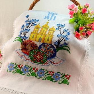 """Пасхальная салфетка """" Церковные колокола"""""""