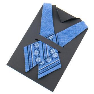 ВЫШИТЫЙ КРОСС ГАЛСТУК №870, стильный вышитый подарок, Сувенир колеге, подарок из Украины