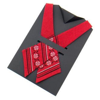 ВЫШИТЫЙ КРОСС ГАЛСТУК №871, Оригинальный подарок колеге, вышитое украшение, Сувенир из Украины